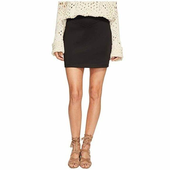 Free People Dresses & Skirts - Free People Black Ponte Knit Mini Skirt Scuba